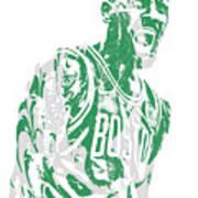 Kyrie Irving Boston Celtics Pixel Art 42 Art Print