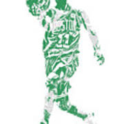 Kyrie Irving Boston Celtics Pixel Art 43 Art Print
