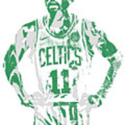 Kyrie Irving Boston Celtics Pixel Art 8 Art Print