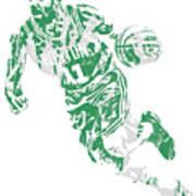 Kyrie Irving Boston Celtics Pixel Art 9 Art Print
