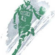 Kyrie Irving Boston Celtics Water Color Art 4 Art Print