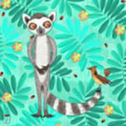 L Is For Lemur And Lark Art Print