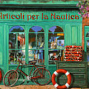 La Bicicletta Rossa Art Print