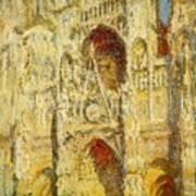 La Cathedrale De Rouen Le Portail Et La Tour Saint-ro Claude Oscar Monet Art Print