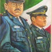 La Ceremonia De La Bandera Art Print