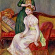 La Coiffure Art Print by Renoir