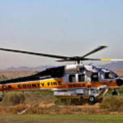 La County Fire Air Support Art Print