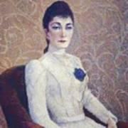 La Dame La Robe Blanche 1886 Art Print