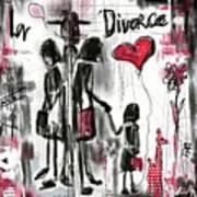 La Divorce  Art Print