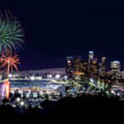La Dodger Fireworks Art Print