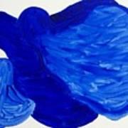 La Famille Bleue Art Print