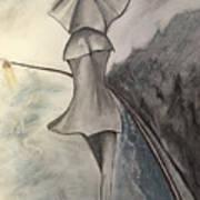 La Femme Au Parapluie Art Print