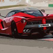La Ferrari - Rear View Art Print