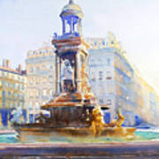 La Fontaine Des Jacobins Art Print