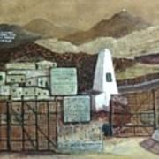 La Fronera Hoy The Border Today Art Print