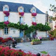 La Gacilly, Morbihan, Brittany, France, Town Hall Painting Art Print