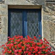 La Gacilly, Morbihan, Brittany, France, Window Art Print