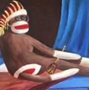 La Grande Sock Monkey Art Print
