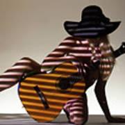 La Guitarista 2 Art Print
