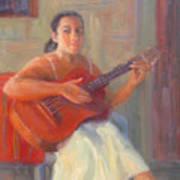 La Guitarista Art Print