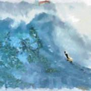 La Jolla Big Surf Art Print