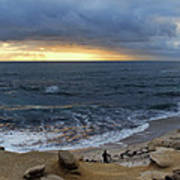 La Jolla Shores Beach Panorama Art Print