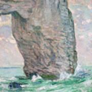 La Manneporte A Etretat Art Print by Claude Monet