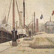 La Maria At Honfleur Print by Georges Pierre Seurat