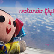 La Mexicanita Flying Art Print
