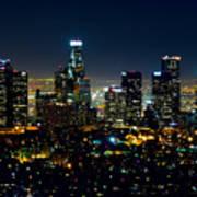 L.a. Night View Art Print