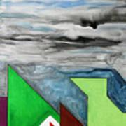 La Notte Sopra La Citta Verde - Part II Art Print