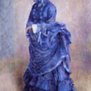 La Parisienne The Blue Lady  Art Print by Pierre Auguste Renoir