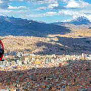 La Paz Cable Car Art Print