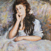 La Pensee My Reproduction Of Renoirs Work Art Print