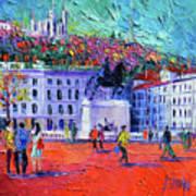 La Place Bellecour A Lyon Art Print