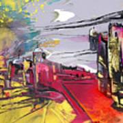 La Place Rouge Espagnole Art Print