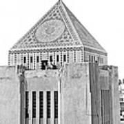 La Public Library Tower Mosaic Art Print