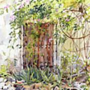 La Puerta Vieja Y Macetas Art Print