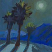 La Quinta Cove And Moonlight Art Print