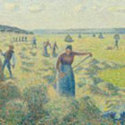 The Harvesting Of Hay Eragny  Art Print