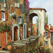 La Stradina Tra I Campi Rossi Art Print