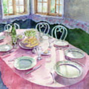 La Table De Fernande Art Print