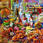 La Table De Fruits De Mer Art Print