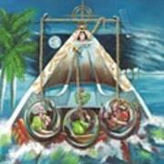 La Virgen De La Caridad Del Cobre En Miami Art Print