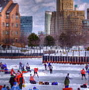 Labatt Pond Hockey 2011 Art Print by Don Nieman