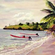 Laborie Beach  Art Print