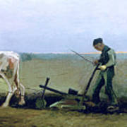 Labourer And Peasant  Art Print