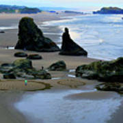 Labyrinths At Bandon Beach Art Print