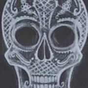 Lace Sugar Skull Art Print