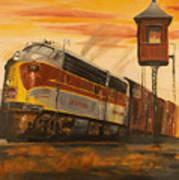 Lackawanna Fast Freight Art Print